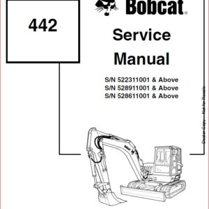 BOBCAT 335 COMPACTOR EXCAVATOR SERVICE REPAIR WORKSHOP