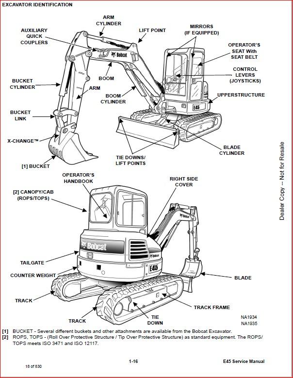 BOBCAT E45 COMPACT EXCAVATOR SERVICE REPAIR WORKSHOP