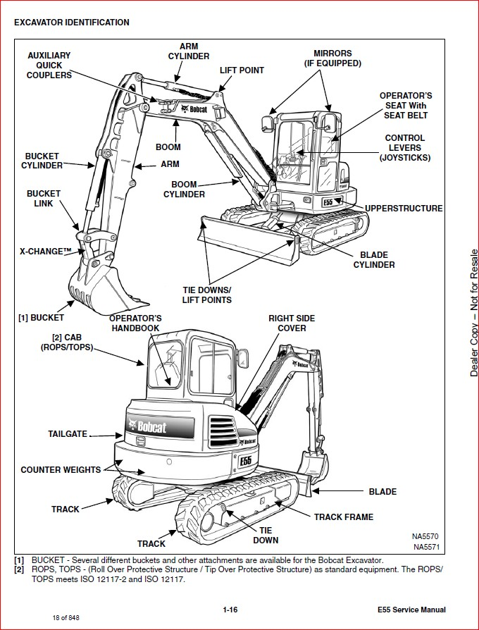 BOBCAT E55 COMPACT EXCAVATOR SERVICE REPAIR WORKSHOP