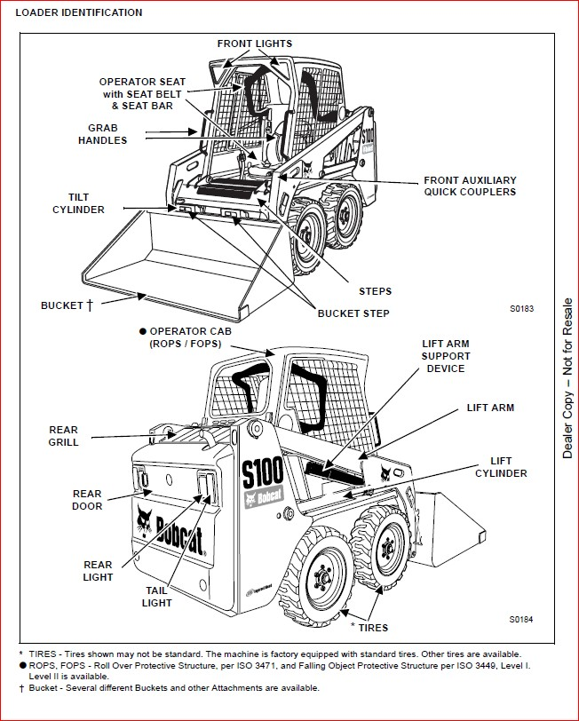 Bobcat S100 Skid-Steer Loader Service Repair Workshop