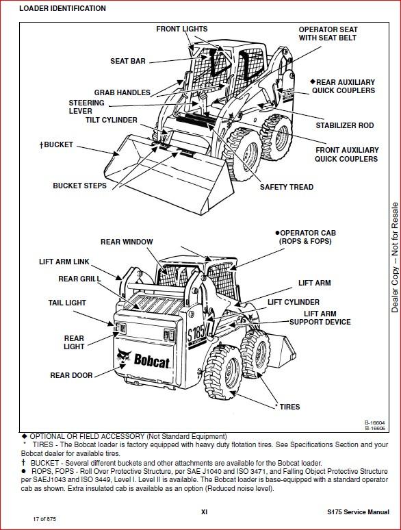 BOBCAT S175 SKID-STEER LOADER SERVICE REPAIR WORKSHOP