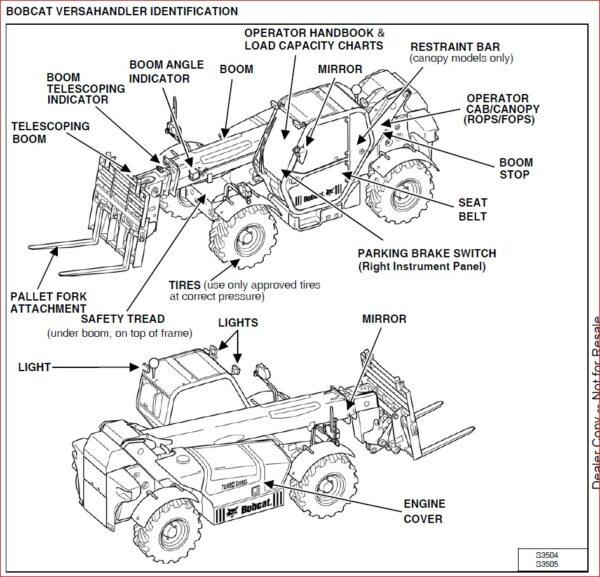 BOBCAT V638 VERSAHANDLER SERVICE REPAIR WORKSHOP MANUAL