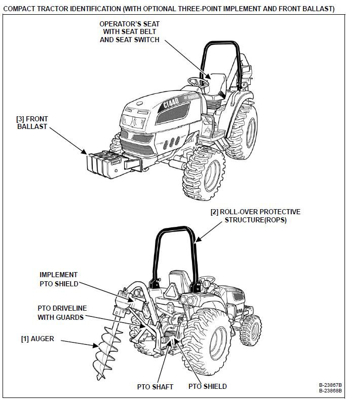 Bobcat CT440 Compact Tractor Operation & Maintenance