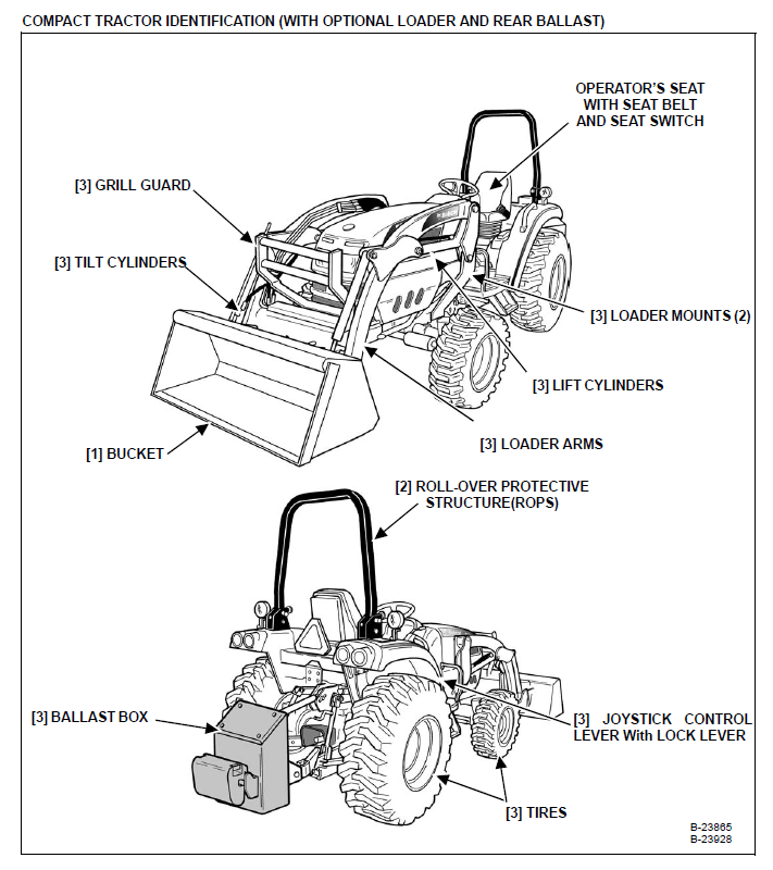Bobcat CT445 Compact Tractor Operation & Maintenance