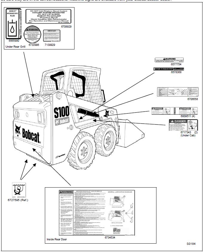 Bobcat S100 Skid Steer Loader Operation & Maintenance