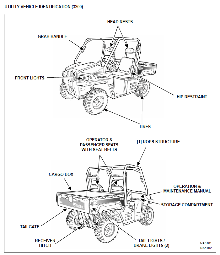 Bobcat Utility Vehicle 3200 Operation & Maintenance Manual