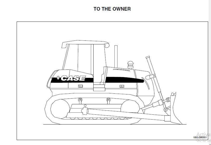 CASE 1650K Crawler Dozer Tier II Engine Operator's Manual