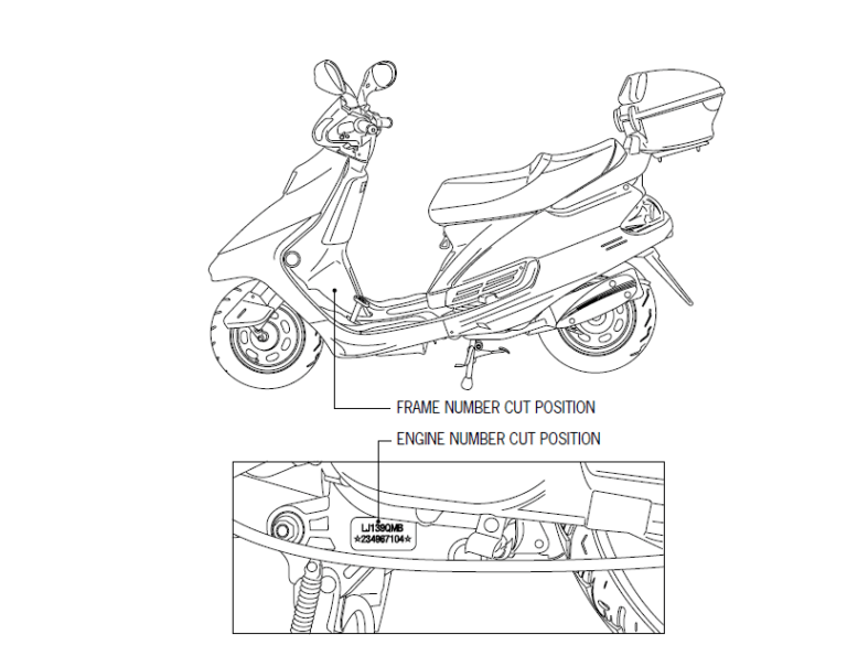 Chinese Jl50qt 4t Scooter Digital Workshop Repair Manual