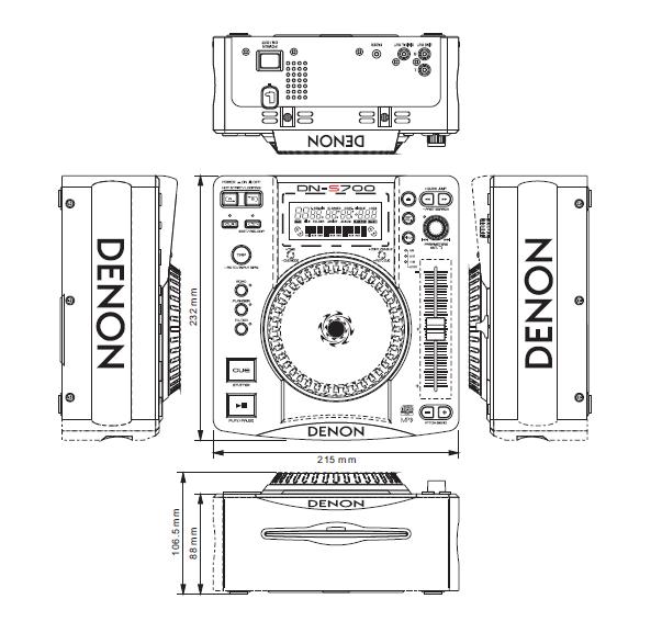 Denon Dn-s700 Table Top Single Cd Mp3 Player Service