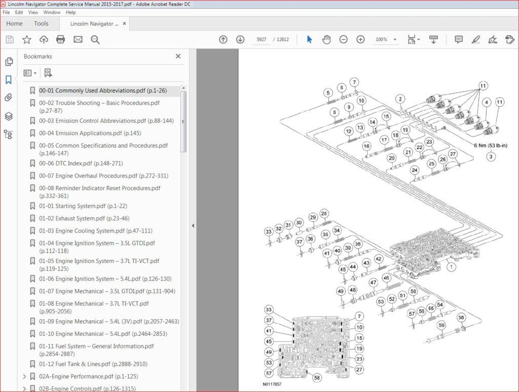 Lincoln Navigator Complete Service Manual 2015 2016 2017