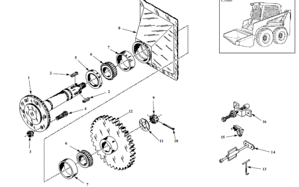 Thomas 135 137 153 Skid Steer Loader Service Parts