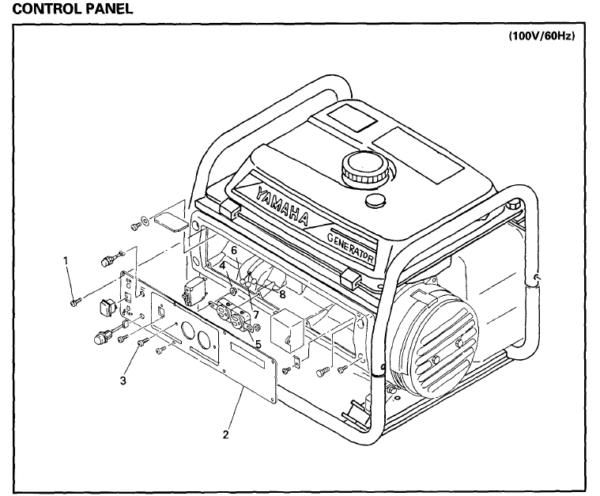 Yamaha Power Generator Ef1600 1400 Ef2600 2300 Workshop