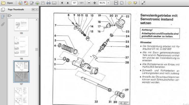 1992 Audi 80 B4 Reparaturleitfaden German Language Auf
