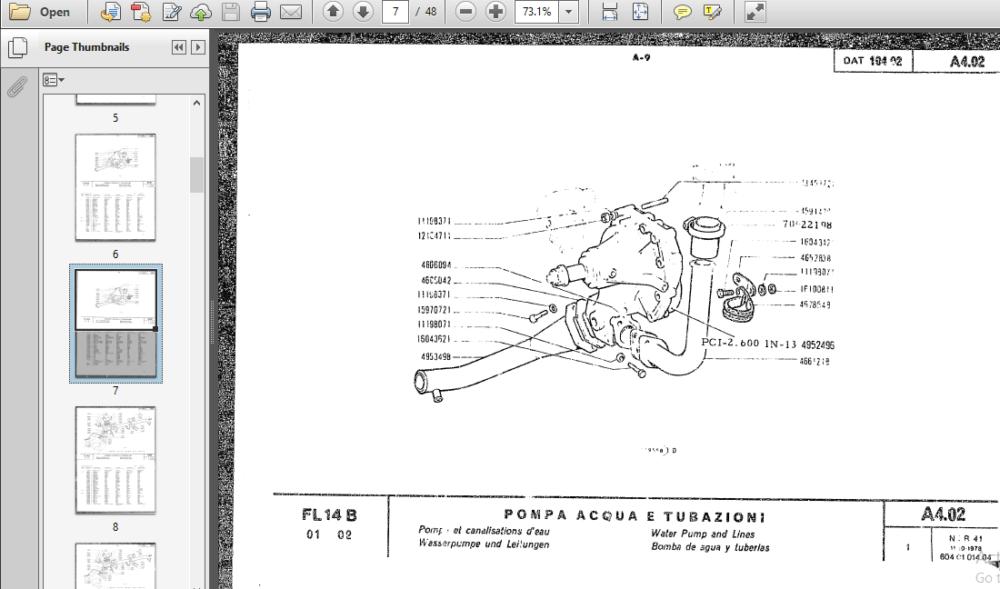 Allis Chalmers Fiat Fl14b Crawler Loader Parts Manual