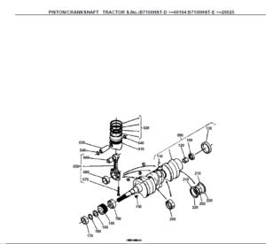 Kubota B7100 HST-D B7100 HST-E Tractor Illustrated Master
