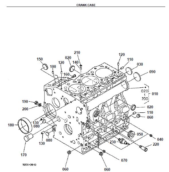 Kubota B2400HSD Tractor Illustrated Master Parts List