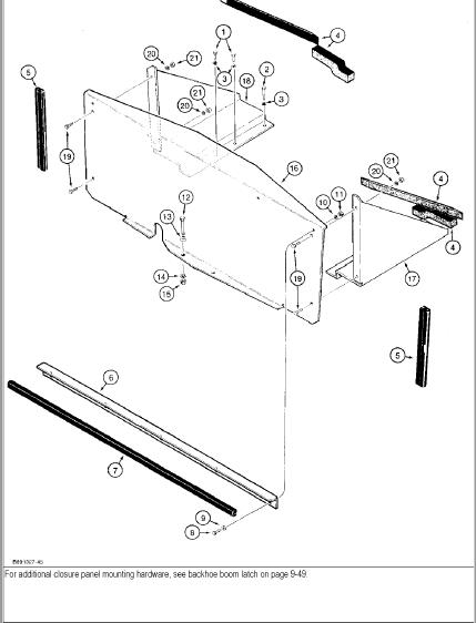 Case 480f Construction King Backhoe Parts Catalog Manual