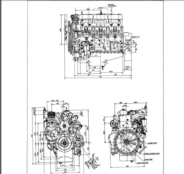 Daewoo Doosan D1146 D1146t D2366 D2366t Diesel Engine