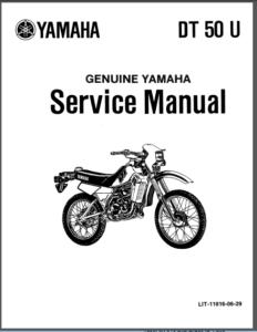 Yamaha Dt50 Enduro 50 Dt 50 88-90 Service Repair Workshop