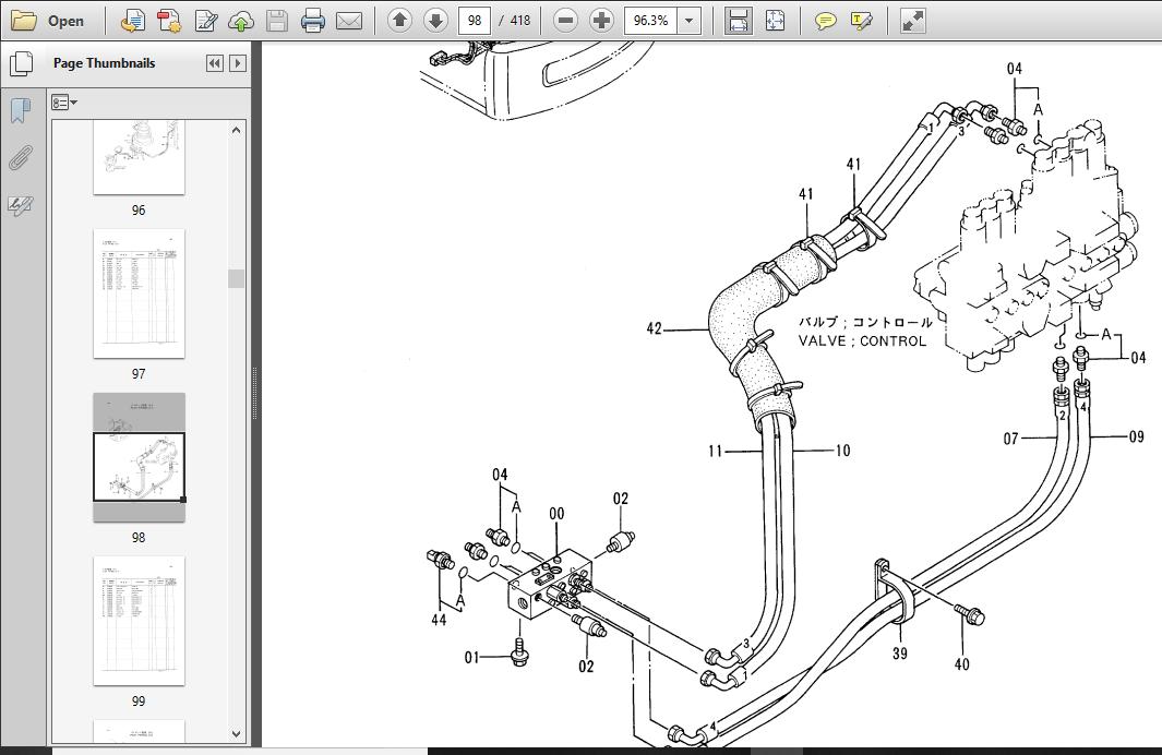 Hitachi Ex120-3 Excavator Parts Catalogue Manual Serial No