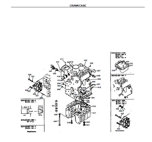 Kubota L185F Tractor Illustrated Master Parts List Manual