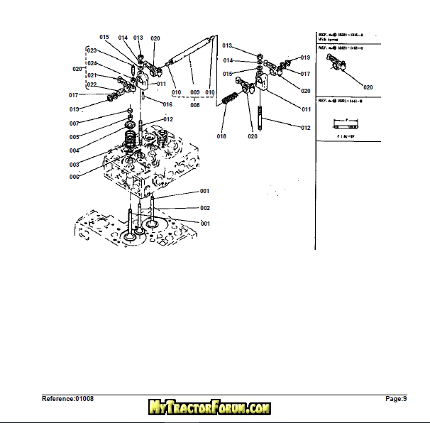 Kubota L185F Tractor Illustrated Master Parts List Manual