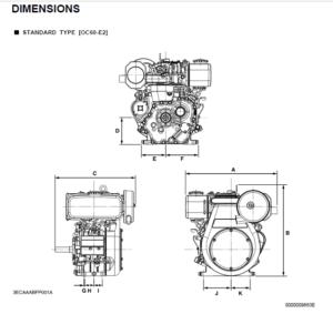 Kubota OC60-E2, OC95-E2 Diesel Engine Service Repair