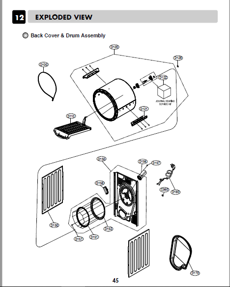 Lg f12b8tdp5 Service Manual And Repair Guide