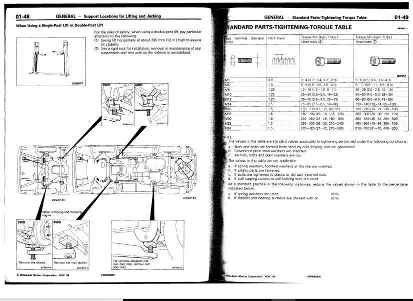 Mitsubishi L300 Express star Wagon delica 2wd 4wd 1986