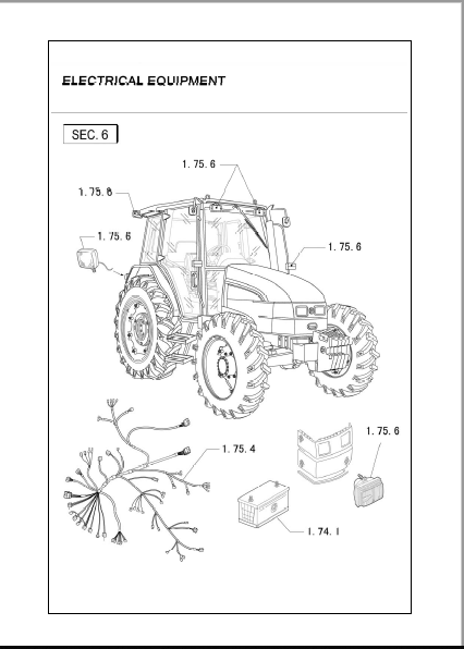 New Holland TL 90 TL 100 Tractor Parts Catalog Manual