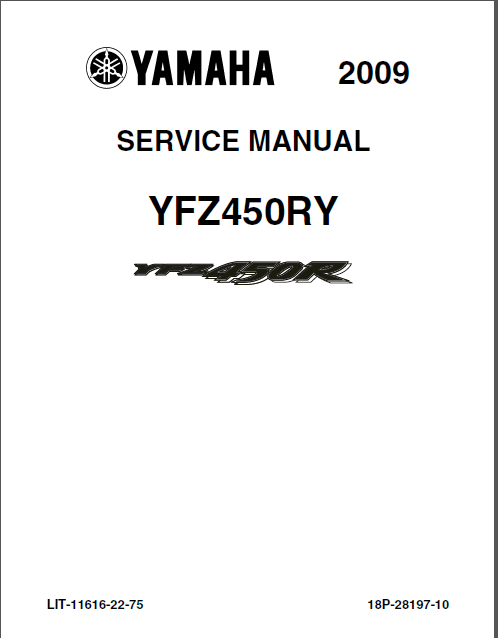 Yamaha Yfz450r Yfz450ry 2007 Full Service Repair Manual