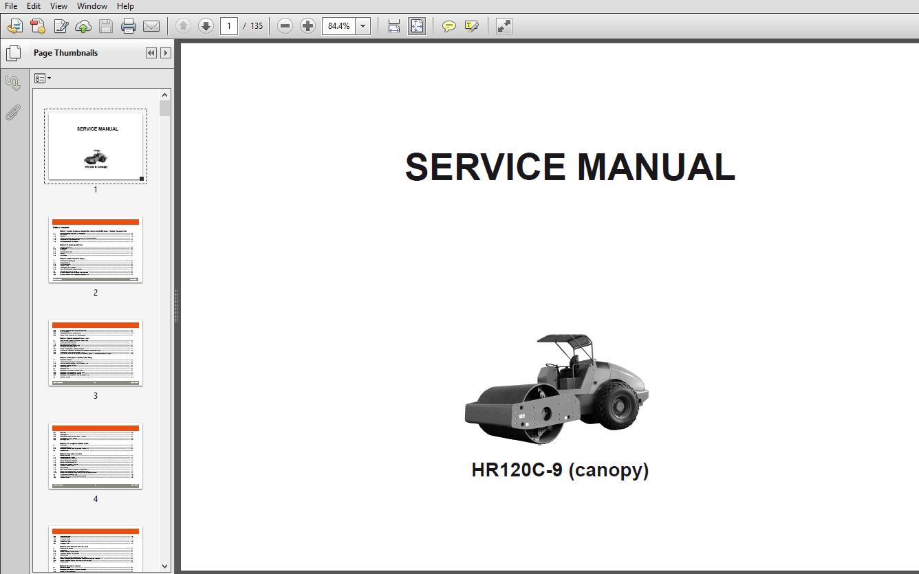 Hyundai HR120C-9 Road Roller Service Manual- PDF DOWNLOAD
