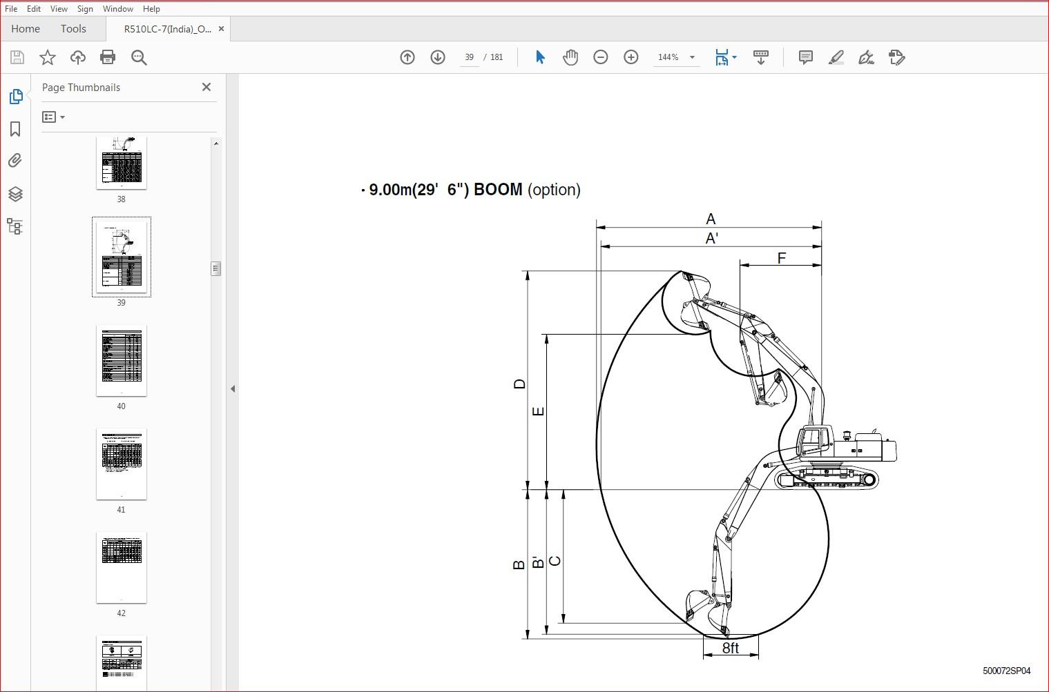 Hyundai R510LC-7 INDIA Crawler Excavator Operators Manual