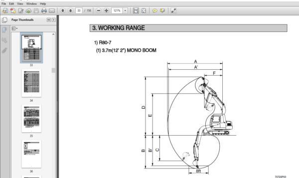 Hyundai R80 7 INDIA Crawler Excavator Operators Manual
