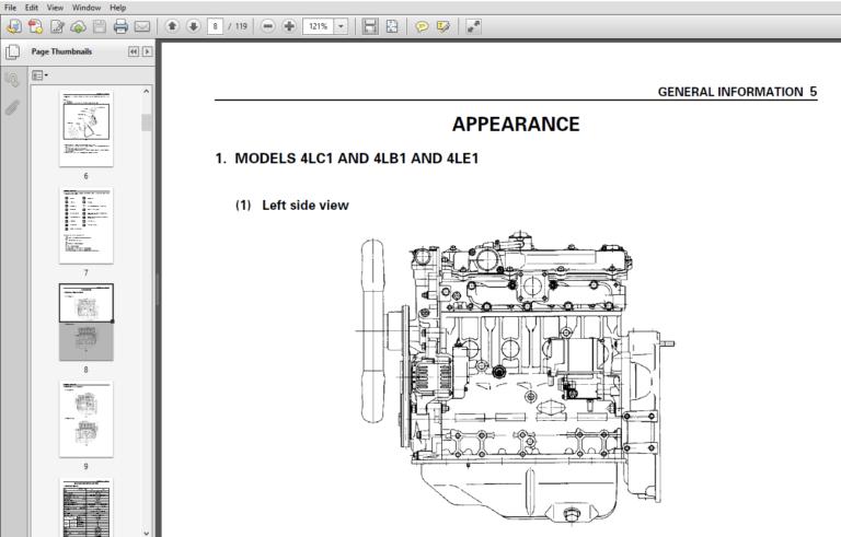 Isuzu INDUSTRIAL DIESEL ENGINE MODELS 4LB1, 4LC1, 4LE1