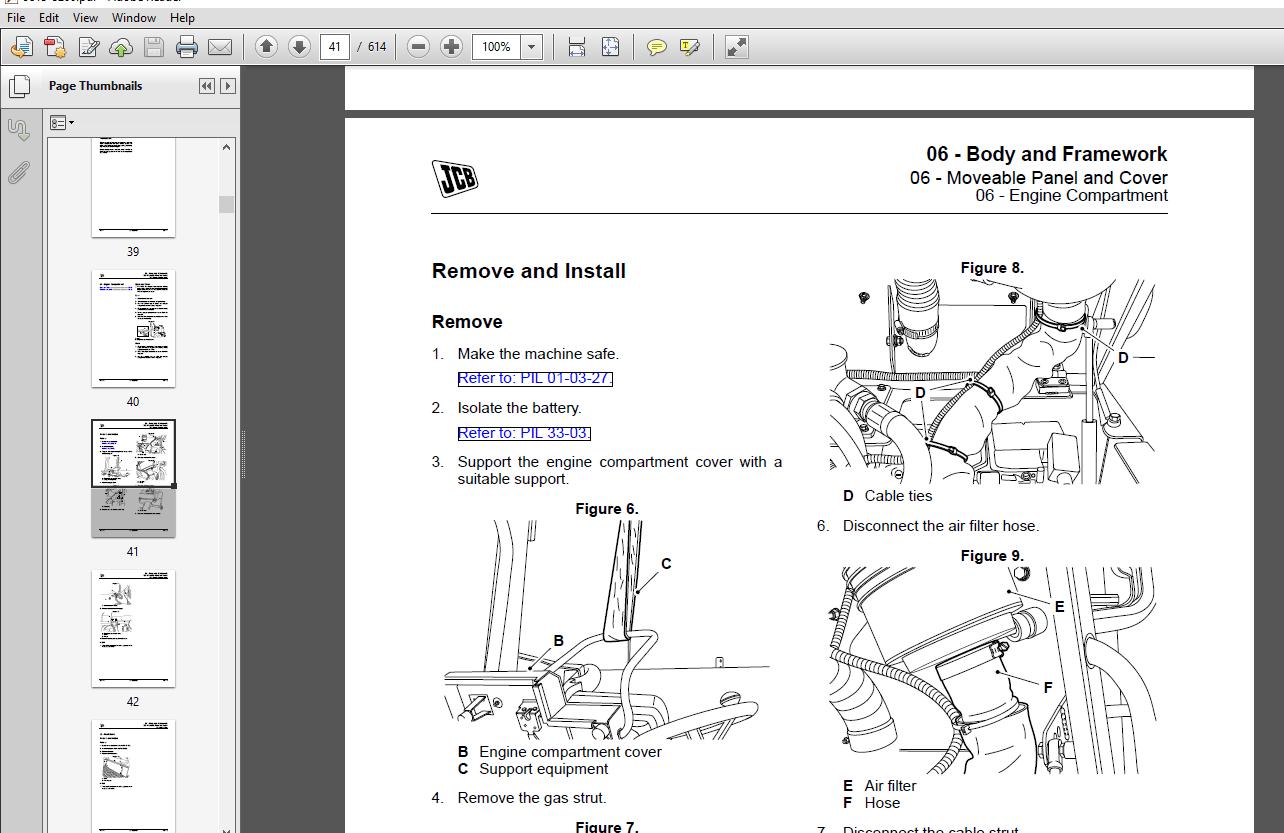 JCB 1THT Site Dumper Thwaites Service Repair Manual