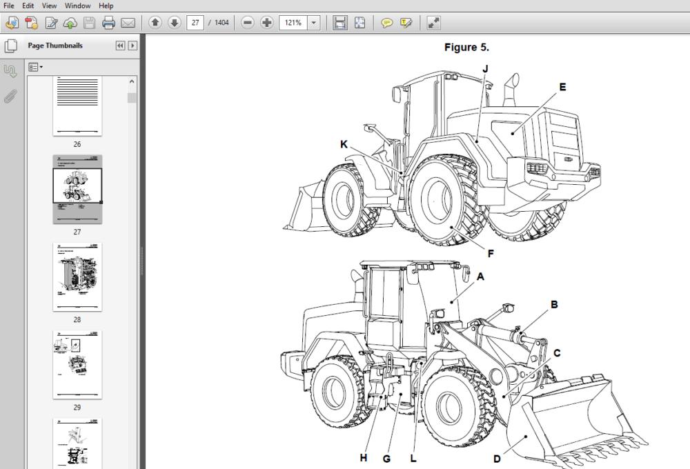 JCB 427, 435S, 437 Wheel Loader Service Repair Manual