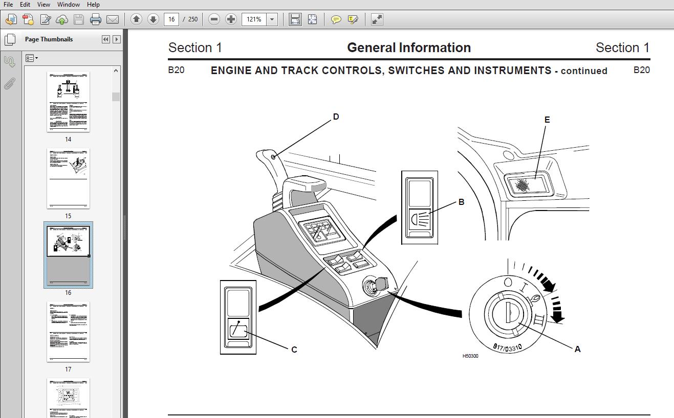 JCB 802.7, 803, 804 Plus/Super Mini Excavator Service