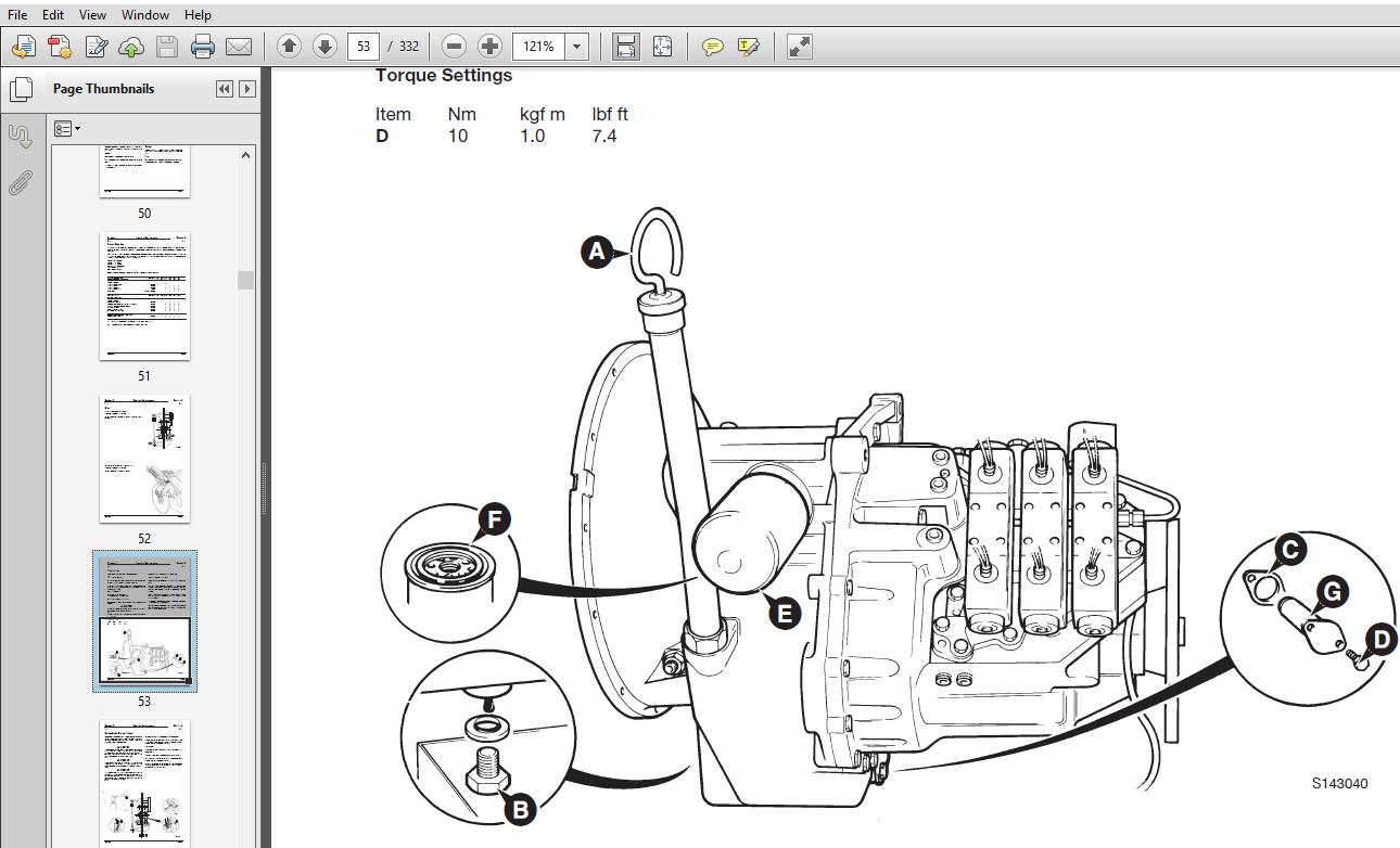 JCB PS700 & PS750 Series Transmission Service Repair
