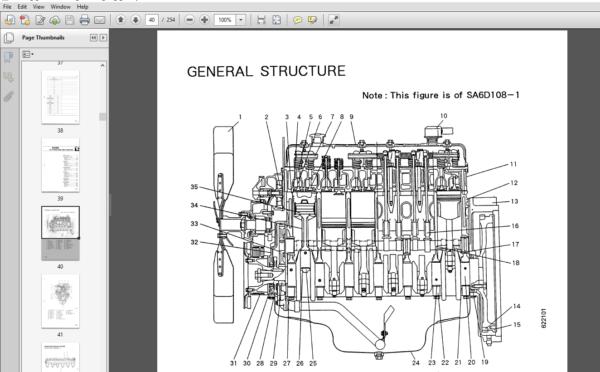 Komatsu 108 Series Diesel Engine Service Repair Manual