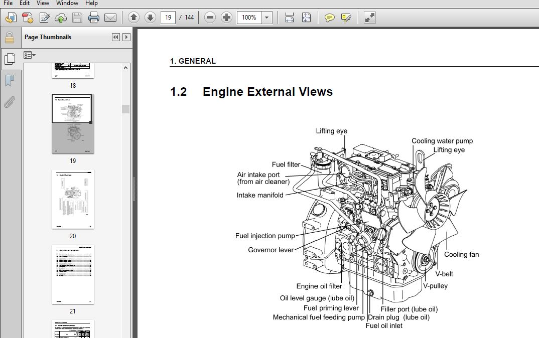 KOMATSU 70E,76E-5 SERIES DIESEL ENGINE SERVICE REPAIR