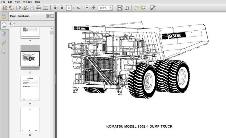 KOMATSU 930-4 DUMP TRUCK SERVICE REPAIR MANUAL (SN:A30796
