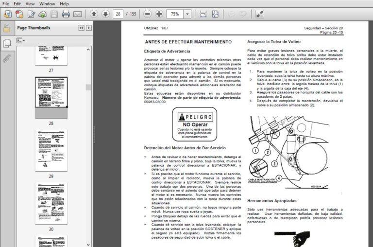 KOMATSU 930E-4SE CAMION TOLVA Manual de Operación y