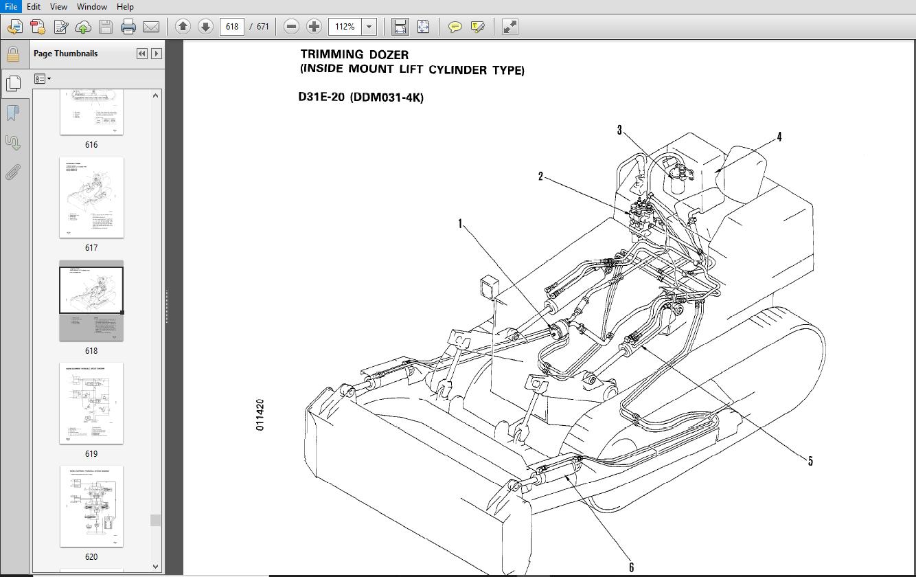 KOMATSU D31E,P,PL,PLL-20 D31P-20A D31S,Q-20 D37E-5,D37P-5A