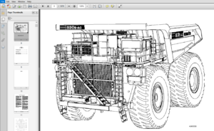 Komatsu 830E-1AC Dump Truck Shop Manual A30210-A30239