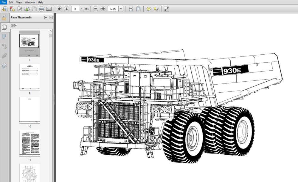 Komatsu 930E-4SE Dump Truck Shop Manual A30727-A30756