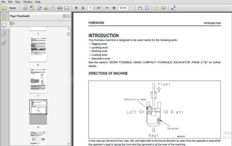 Komatsu Hydraulic Excavator GALEO PC27MR-2 PC35MR-2