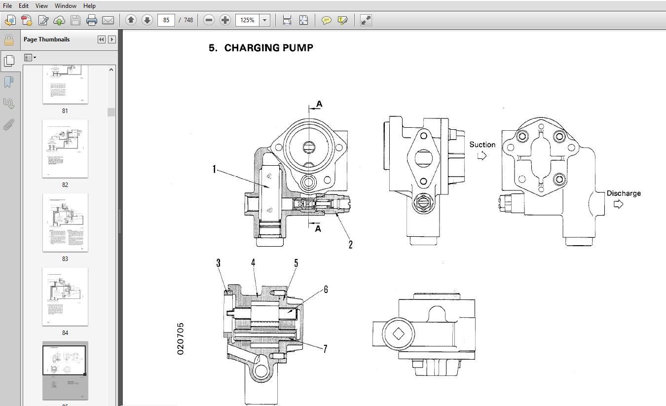 Komatsu PC300-5, PC300HD, PC400HD-5 Service Shop Repair