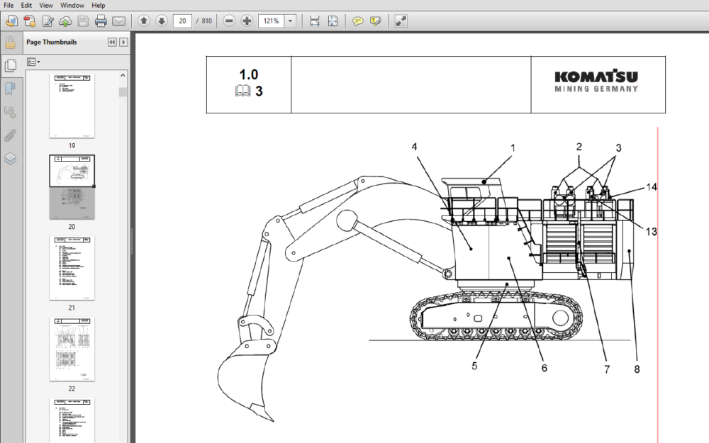 Komatsu PC5500-6 Hydraulic Mining Shovel Shop Manual 15031
