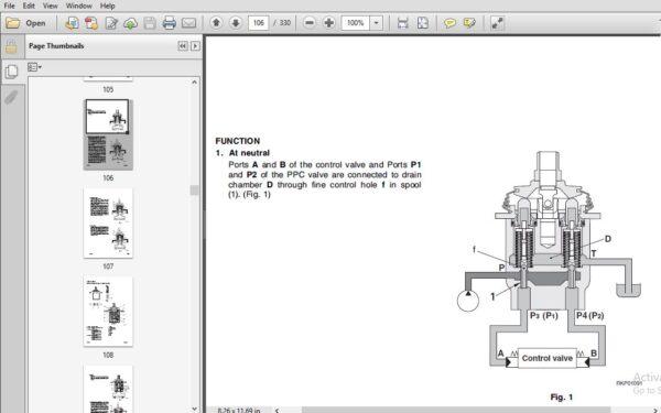 Komatsu PC95R-2 Hydraulic Excavator Shop Manual SN